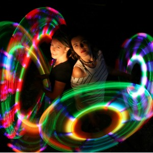 Stardass - Modular LED Poi with Optic Fibers. Including a free case